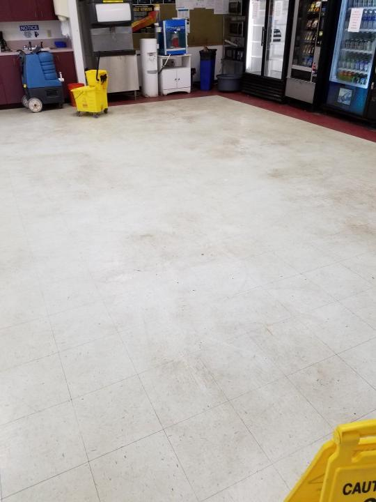 Before Strip and Wax VCT Floors