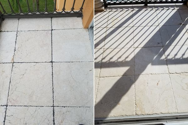 Before & After Exterior Stone Floor Cleaning in Hallandale Beach, FL (1)