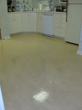After Stripping and Waxing of VCT Floors