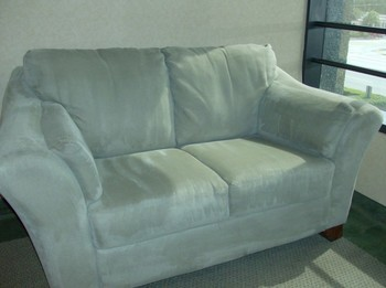 Upholstery Cleaning of Microfiber love seats